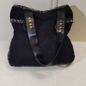 LEI Black Corduroy Purse
